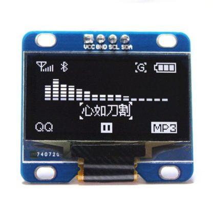 0.96寸 OLED 液晶顯示模組 白字黑底 I2C/IIC 通信 128*64