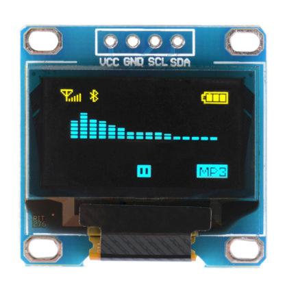 0.96寸 OLED 液晶顯示模組 黃藍雙色字黑底 I2C/IIC 通信 128*64